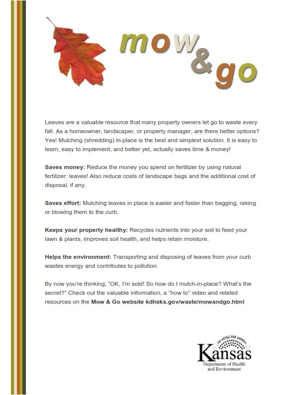 mow and go info sheet