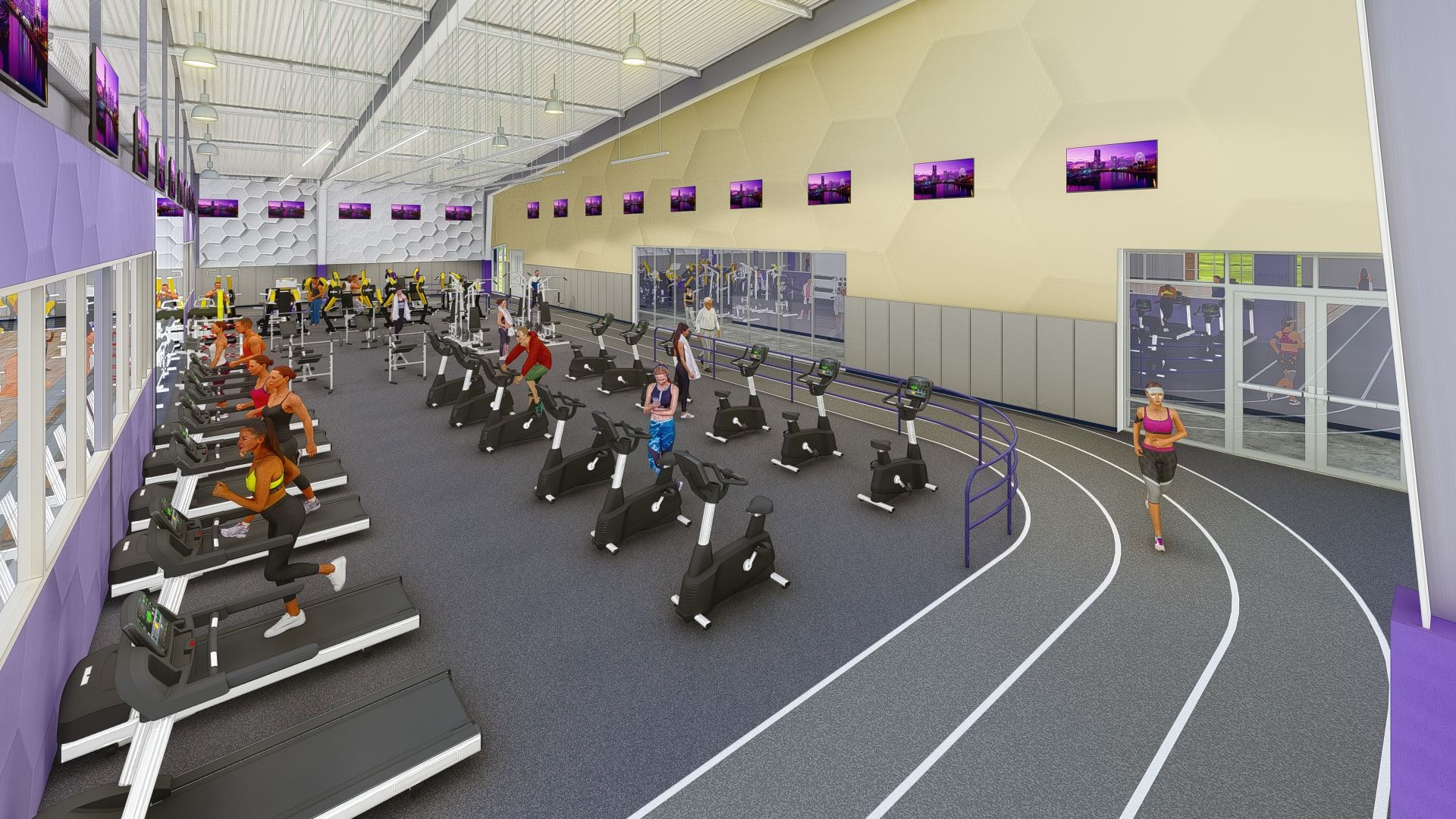Interior graphic rendering of the proposed new recreation facility